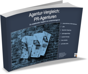 PR Agenturen E Cover Marktüberblick contentmanager.de