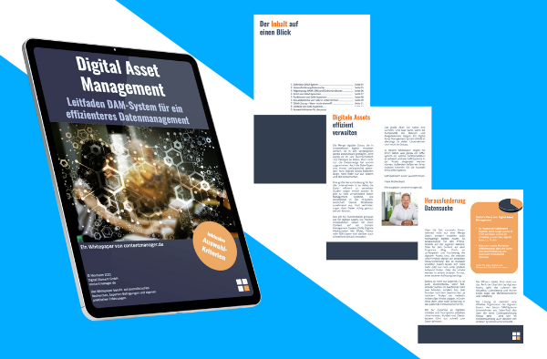 Digital Asset Management E-Cover und Auszüge Whitepaper contentmanager.de
