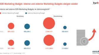 Screenshot B2B Marketing Budget Studie 2021 bvik