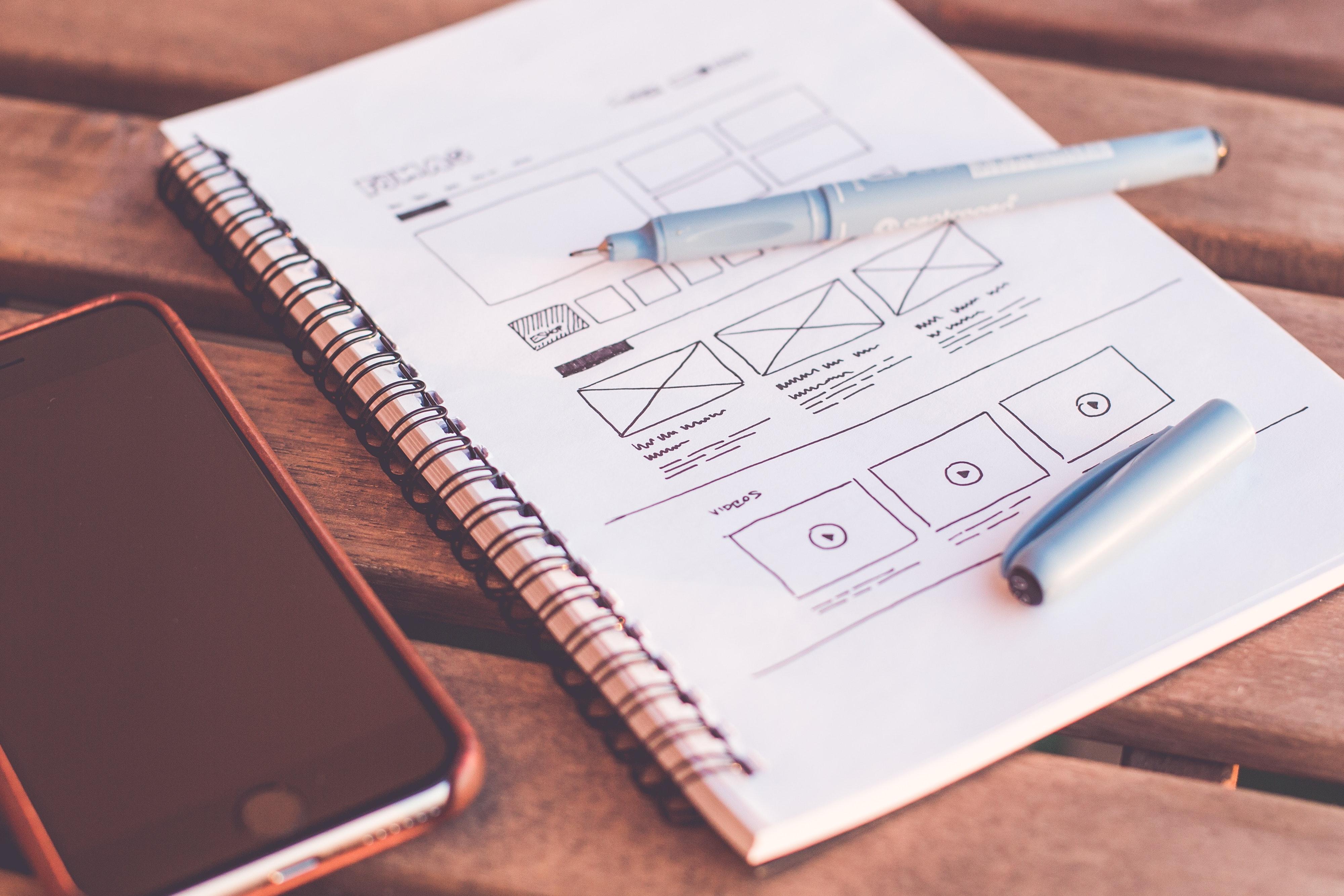 Website Gestaltung Skizze Website Design
