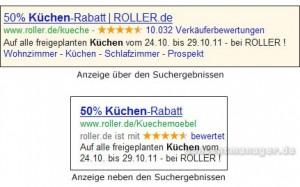 Anzeige GoogleAdwords