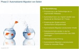 Automatisierte Migration der Seiten