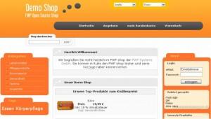 Beispiel für einen Online-Shop über das Shopsystem FWP Shop