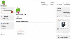 Beispiel für einen Online-Shop über das Shopsystem PrestaShop