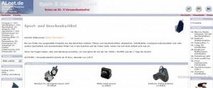 Beispiel für einen Online-Shop über das Shopsystem OsCommerce