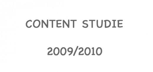 Content Studie 2009/2010