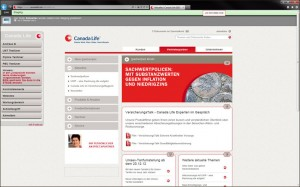 CanadaLife Website auf Basis von Liferay in der Live-Version