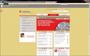CanadaLife Website in der Staging-Version
