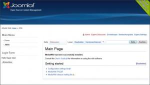 Das (noch) leere Wiki mit dem Wiki-Menü