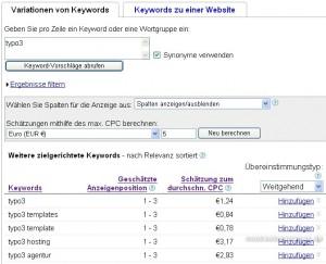 Google Keyword-Tool