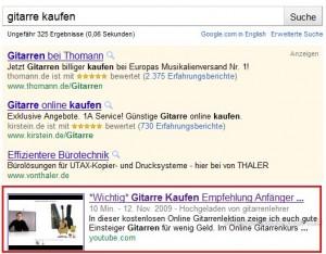 Google zeigt gleiches Video wie YouTube an
