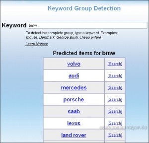 Keyword Group Detection