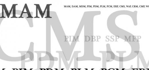MAM, DAM, MDM, PIM, PDM, PLM, PCM, ERP, CMS, W2P, CRM, CMP, WCM, DBP, SSP, MFP?