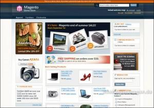 Magneto Demo-Shop Startseite