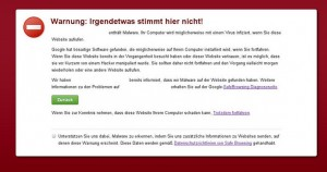 Maleware Sicherheitswarnung