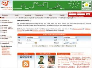 RSS-Feeds bei Mitfahrzentrale