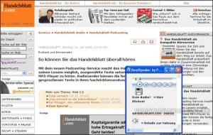 Readspeaker Handelsblatt
