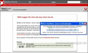 Readspeaker Stern.de