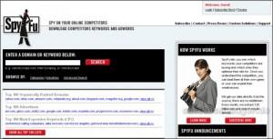 SpyFu-Startseite