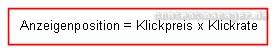 frühere Formel für eine Adwords-Platzierung