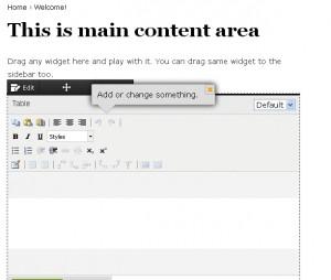 main content area